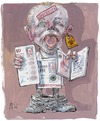 Cartoon: scrutinized (small) by Rainer Ehrt tagged security,identity,terror,fear,checking,investigate,civil,rights