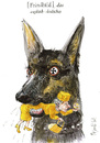 Cartoon: The Germans (small) by Rainer Ehrt tagged germany,england,deutschland,feindbild,enemy,image,queen,schäferhund