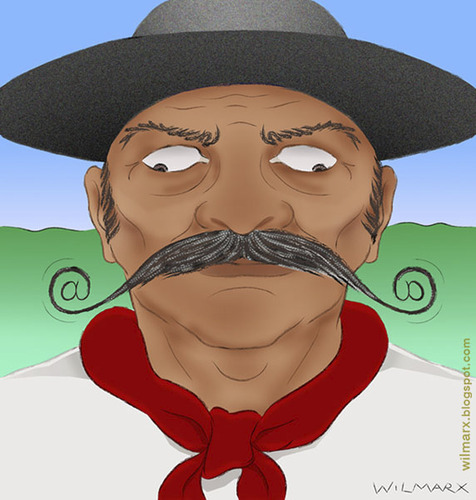 Cartoon: Gaucho connected (medium) by Wilmarx tagged gaucho,internet,email
