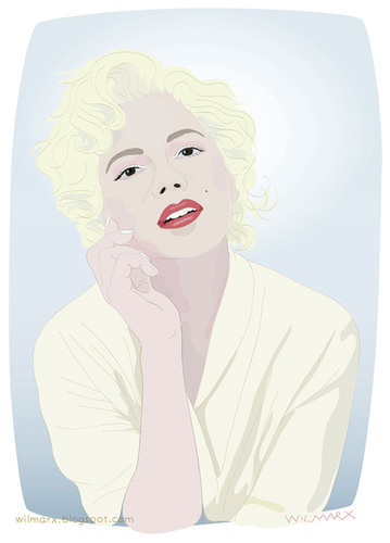 Cartoon: Michelle Williams (medium) by Wilmarx tagged monroe,marilyn,actress,movie