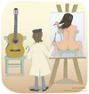 Cartoon: Body guitar (small) by Wilmarx tagged graphic,painter,women,music