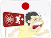 Cartoon: Japan earthquake warning... (small) by Wilmarx tagged earthquake,japan,radiation