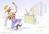 Cartoon: Jester in Heaven (small) by Wilmarx tagged jester,st,peter,heaven,humor