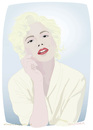 Cartoon: Michelle Williams (small) by Wilmarx tagged movie,actress,marilyn,monroe