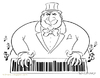 Cartoon: Musical Capitalism (small) by Wilmarx tagged capitalism,barcode