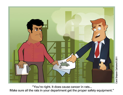 Cartoon: Cancer in Rats (medium) by carol-simpson tagged labor,cancer,poison,safety,rats,industry,toxic,unions