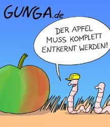 Cartoon: Apfel (medium) by Gunga tagged apfel