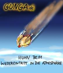 Cartoon: Hühnchen (medium) by Gunga tagged hühnchen