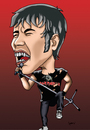 Cartoon: BRUCE DICKINSON - IRON MAIDEN (small) by mitosdorock tagged iron,maiden,bruce,caricature