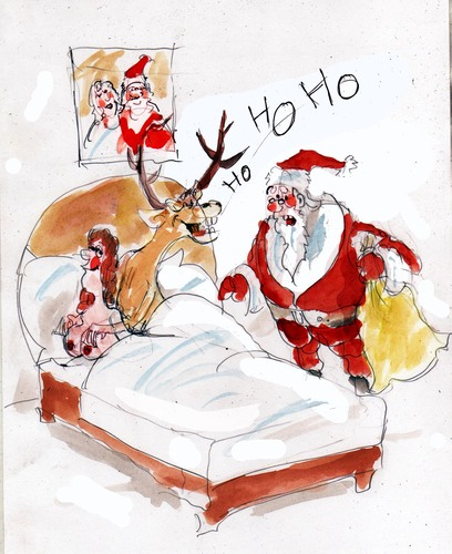 Cartoon: santa ho ho ho ho (medium) by Miro tagged santa,ho