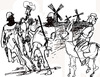 Cartoon: Don Kihot (small) by Miro tagged don,quixote