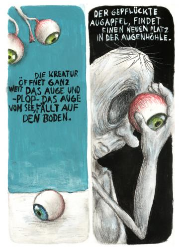 Cartoon: Op Ticks (medium) by Einauge tagged augen