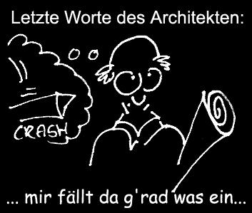 Cartoon: Letzte Worte (medium) by Newbridge tagged worte,abschied,architekt