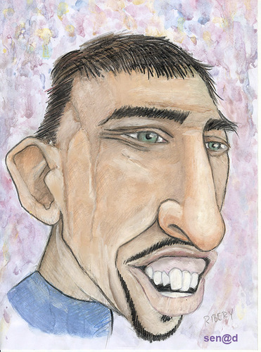 Cartoon: Ribery (medium) by Senad tagged ribery,senad,nadarevic