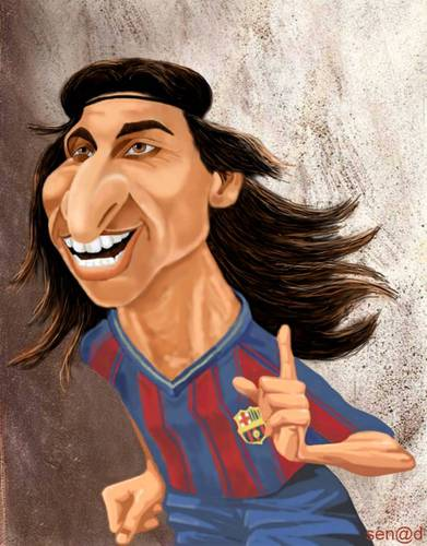 Cartoon: Zlatan Ibrahimovic (medium) by Senad tagged zlatan,ibrahimovic,senad,nadarevic,bosnia,bosna,karikatura