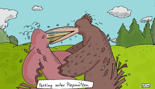 Cartoon: Petting (medium) by Leichnam tagged petting,vögel,natur,gefiederte,freunde,zuneigung,liebe,tiere,federvieh