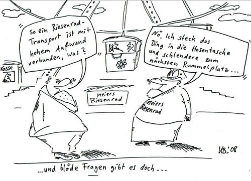 Cartoon: Transport (medium) by Leichnam tagged transport,rummel,riesenrad,schausteller,frage