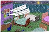 Cartoon: Open Air (small) by Leichnam tagged open,air,gatten,frisch,sommernacht,sommerluft,regen,vorgarten,gesund,leichnam,leichnamcartoon,bettstätten,betten