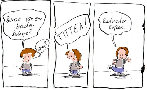 Cartoon: Biologie (medium) by kusubi tagged ich