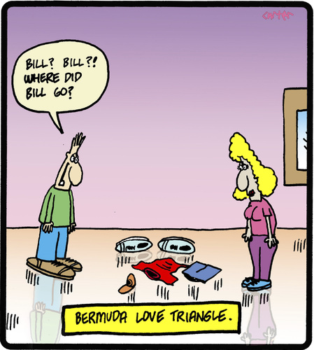 Cartoon: Bermuda Love Triangle (medium) by cartertoons tagged love,relationships,couples,triangle,mystery,love,relationships,couples,sex,triangle,mystery
