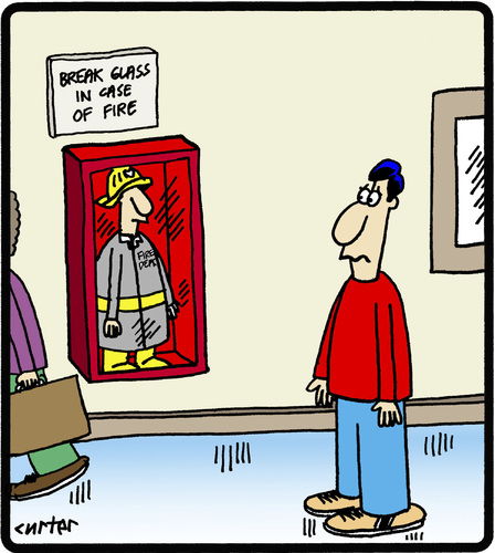 Cartoon: Emergency Fireman (medium) by cartertoons tagged firemen,emergencies,workers,safety,signs,firemen,emergencies,workers,safety,signs