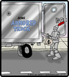 Cartoon: Armored Driver (small) by cartertoons tagged knight,drivers,armored,car,money,cash,security