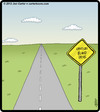 Cartoon: Bland Drive (small) by cartertoons tagged driving,signs,bland,scenery,boredom