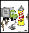 Cartoon: Bug Bomb Squad (small) by cartertoons tagged bug,bomg,squad,robot,insect