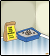 Cartoon: Extra Absorbent Kitty Litter (small) by cartertoons tagged cats,pets,litter,boxes,cleanliness,surreal