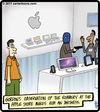 Cartoon: iWitness (small) by cartertoons tagged apple,computer,store,robbery,crime,iwitness,witness