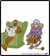 Cartoon: Knit Husband (small) by cartertoons tagged knit,knitting,crafts,hobby,hobbies,grandparents,marriage,couples,love