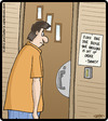 Cartoon: Knock Note (small) by cartertoons tagged signs,neighbors,door,customs,rituals,home,greetings,notifications
