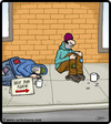 Cartoon: Next bum please (small) by cartertoons tagged bum,bums,beggar,beggars,panhandlers,vagrants,vagabonds