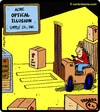 Cartoon: Optical Illusion Supply Co. (small) by cartertoons tagged forklift,warehouse,optical,illusion