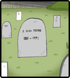 Cartoon: P. Alan Drome (small) by cartertoons tagged death,grave,palindromes