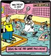 Cartoon: Polo Savior (small) by cartertoons tagged jesus,water,polo,pool,coach