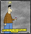 Cartoon: Tiny Drink Umbrella (small) by cartertoons tagged drink,umbrella,rain,spirits,glass
