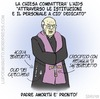 Cartoon: Esorcismi (small) by sdrummelo tagged benedetto,xvi,joseph,ratzinger,chiesa,cattolica,aids,esorcismo,padre,amorth