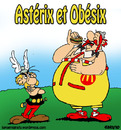 Cartoon: La capitulation (small) by sdrummelo tagged asterix,obelix,obesite,hamburger,mc,donald,france,francia,publicite