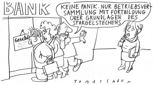 Cartoon: Bankenkrise (medium) by Jan Tomaschoff tagged finanzkrise,banken