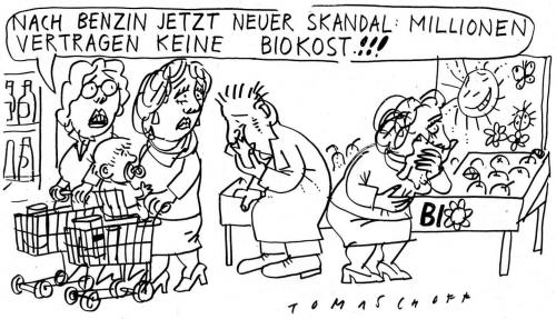 Cartoon: Bio (medium) by Jan Tomaschoff tagged biokost,benzin,biosprit
