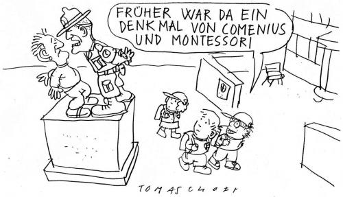 Cartoon: Correction Camp (medium) by Jan Tomaschoff tagged jugendgewalt,erziehung,education,generationen
