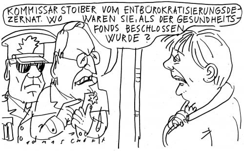 Cartoon: Der Kommissar (medium) by Jan Tomaschoff tagged gesundheitsfonds