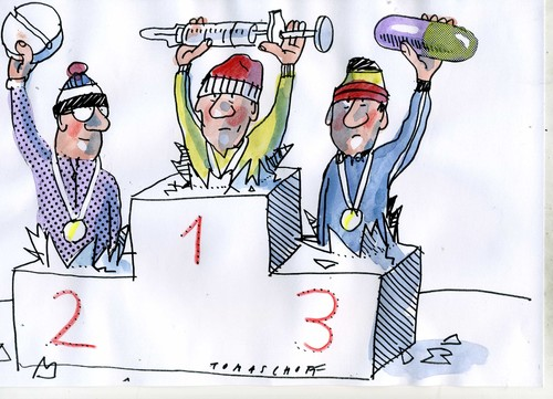 Cartoon: Doping (medium) by Jan Tomaschoff tagged sport,doping,sport,doping