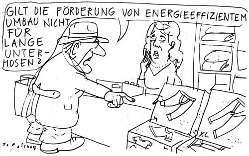 Cartoon: Energieeffizienter Umbau (medium) by Jan Tomaschoff tagged energieeffizienter,umbau