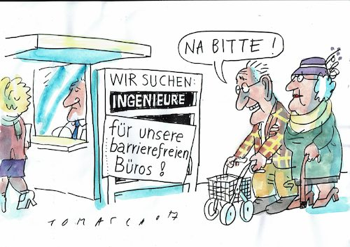 Cartoon: Fachkräfte (medium) by Jan Tomaschoff tagged senoiren,jugendwahn,fachkräftemangel,senoiren,jugendwahn,fachkräftemangel