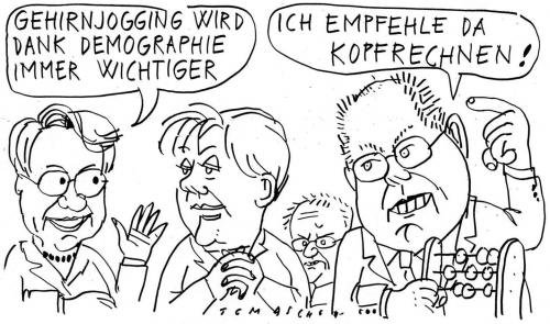 Cartoon: Gehirnjogging (medium) by Jan Tomaschoff tagged demographie,alte