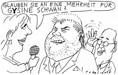 Cartoon: Gysine (medium) by Jan Tomaschoff tagged gesine,schwan,gregor,gysi,horst,köhler,bundespräsidentin