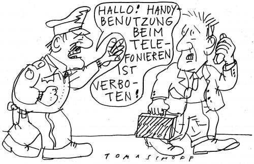 Cartoon: Handy-Verbot (medium) by Jan Tomaschoff tagged handy,mobile,cell,phone,
