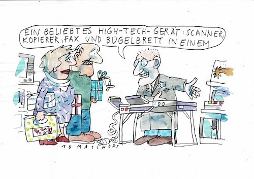 Cartoon: High tech (medium) by Jan Tomaschoff tagged technik,it,technik,it